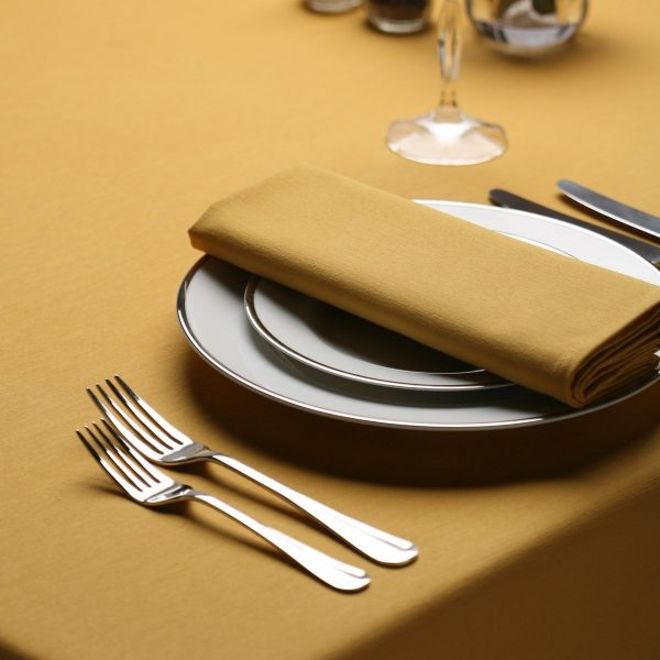gold ployester napkins