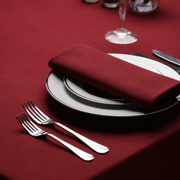 maroon ployester napkins
