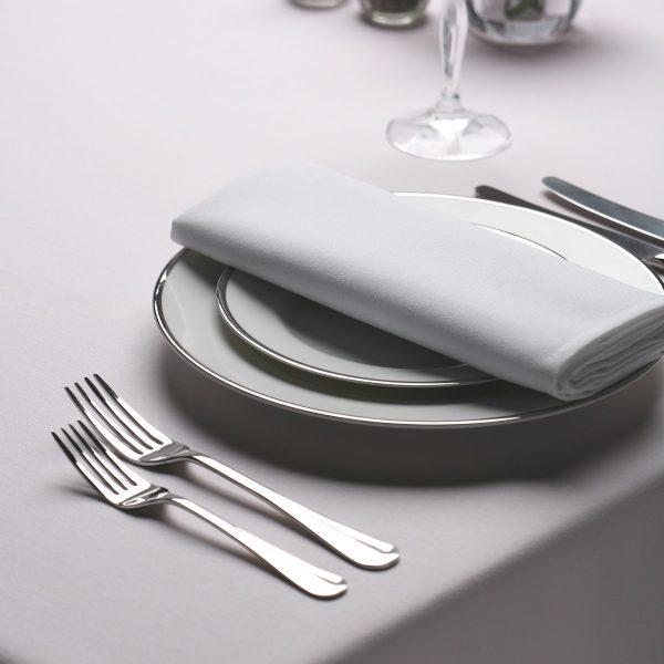 white ployester napkins